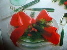 un mondo di ricette: decorazioni natalizie un posto a tavola : il nastr...