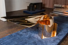 Polished bronze constructs-glitches by Christopher Stuart at new-york-design-week-future-perfect-designboom