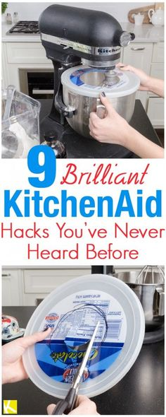 DIY Home Decor Inspiration : Illustration Description These 8 Brilliant KitchenAid hacks are THE BEST! I'm so glad I found these AWESOME tips and tricks! Now I can save time with my cooking and even during the holidays! -Read More – Kitchen Aid Recipes, Kitchen Gadgets, Kitchen Tools, Kitchen Mixer, Dishes Recipes, Kitchen Aid Mixer Attachments, Cake Recipes, Kitchen Supplies, Meal Recipes