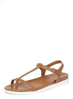 Tan Flamingo Comfort Footbed Sandals