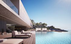 Superhouse Concept by Magnus Strom is Modern Lap of Luxury Interior Design Magazine, Architecture Résidentielle, Luxury Homes, Facade, House Design, Building, Pools, Houses, Villas