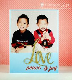 Chunyuan Wu for Avery Elle using Simply Said Love dies and Holiday Fill In the Blank stamp set.