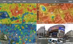Talk about heat maps, and most people will assume you're referring to a map with colours used to represent intensity of something like poverty or crime. This new map - published his morning by the Department for Energy and Climate Change - is much more literal than that. It really is a heat map.