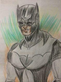 Dibujo a color de pantera negra