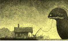 Post-it monsters by John Kenn Mortensen (© 2012 John Kenn Mortensen e Aben Maler  Per gentile concessione di Elliot Edizioni)
