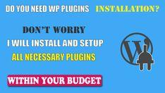 install wordpress plugins and optimize wp website