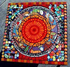 Résultat d'images pour free mosaic patterns for tables 4X2