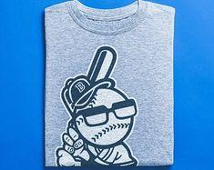 Items similar to Brooklyn Baseball Skater Shirt - Graffiti Shirts, Comic Illustration, Street Art Apparel, Unisex Clothing on Etsy Skater Shirts, Base Ball, Good Birthday Presents, Surf Shirt, African Safari, Brooklyn, Vintage Shirts, Tshirts Online, Graffiti