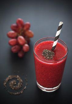shake de frutas vermelhas - Sabores de Canela