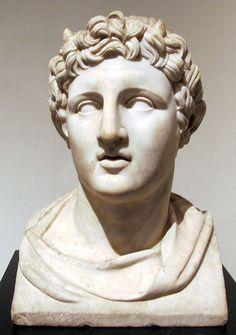 Villa dei Papiri - buste en marbre d'Alexandre - Musée archéologique de Naples