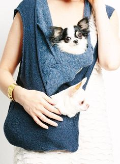 pet sling carrier | Double Scarf Sling Small Dog Puppy Pet Carrier with by HeartPup, $220 ...