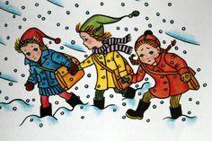 Helena Zmatlíková Illustration Children, Children Books, Coming Home, Czech Republic, My Childhood, Snow, Artist, Fun, Prague