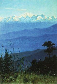"artist-vereshchagin: ""Himalayas in the evening, 1875, Vasily Vereshchagin """