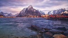 Afternoon sun in Reine by Hallgeir Nielsen on YouPic Amazing Nature, Mount Everest, Sun, Mountains, Landscape, Photography, Travel, Scenery, Photograph