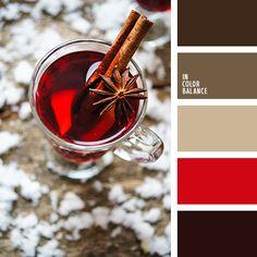 бледно-оранжевый, бордовый, бордовый и красный, контрастное сочетание цветов, насыщенный красный, оттенки красного, теплая цветовая палитра, цвет вина, цвет сангрия, цвета глинтвейна.