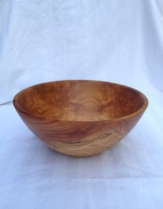"""8 7/8"""" x 3 7/8"""" deep apple wood bowl on Etsy, $50.00"""