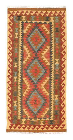 Kilim Afghan Old style rug 3′2″x6′7″