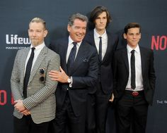 Pin for Later: Pierce Brosnan Looks So Happy to Share the Spotlight With His Sons