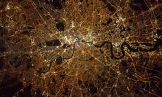 Tim Peake's photos show Londoners and the people of the UK how they look from space at night.