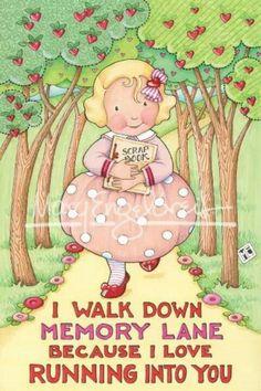 I walk down memory lane