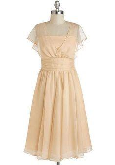 @ModCloth cream colored sheer dress
