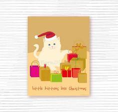 LITTLE KITTENS LOVE CHRISTMAS   #christmas #printable #holiday  #wall #art #kitten #xmas #embellishments #decoration #festive #holiday #digitl #print #cats #catlove #cattitude #petlovers #cats #wall #decor