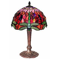 ** Tiffany style dragonfly lamp - Got this for my side of the bed and my husband ended up with it. Gorgeous little lamp!