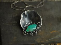 Tidal Pool Chrysoprase Sterling Silver Necklace by TaylorsEclectic
