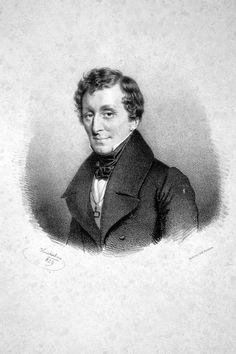Giacomo Meyerbeer [born Jacob Beer] (1791-1864), lithograph (1839), by Josef Kriehuber (1800-1876).