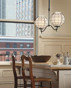 Rockwell gas-style industrial pendants from Rejuvenation.com
