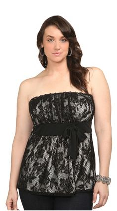 Black lace top from Torrid