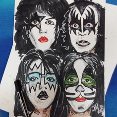 #2dart #markers #rotuladores #ilustracion #illustration #drawing #kiss #80s #hearteam #art #artwork #dibujo #heavy #portrait #retrato