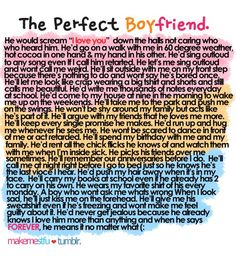 No ones perfect...but this is close!! I can agree with this... (plus a few of my own added in) Men? Take notes.