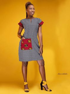30+ Stylish and Classy Ankara Styles for Weekend Slay - Stylish Naija Ankara Short Gown Styles, Short Gowns, African Print Dresses, Ankara Fabric, Weekend Style, Classy Women, Slay, Dresses For Work, Fashion Outfits