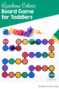 Learn about colors with this super simple, printable Rainbow Colors Board Game for toddlers and preschoolers! Includes a custom dice. Fun Activities For Preschoolers, Printable Activities For Kids, Games For Toddlers, Literacy Activities, Toddler Activities, Educational Activities, Free Printables, Kindergarten Colors, Kindergarten Learning