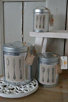 Clayre&Eef voorraadblikken (Clayre&Eef stock cans)  www.blossombrocante.nl