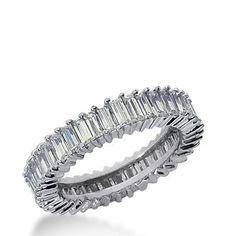 $30.99 Baguette Cut Diamond CZ Eternity Wedding Band Ring | Things I ...