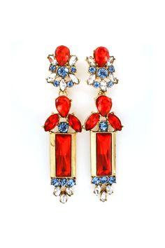 Fiery Seraphine Crystal Earrings