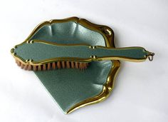 Vintage French Crumb Tray And Brush Set, Silent Butler Two Piece Set, Table  Dustpan And Brush, Crumb Catcher, Vintage Dining Table