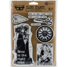 "Finnabair Cling Stamps 6""X7.5"": Now Is The Right Time (962067) - RS104"