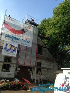 Unsere Maler bei der Arbeit am historischen Bauernhaus in Bremen!