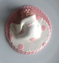 BABY SHOWER CAKE Topper Fondant Baby polka by SabrinasSugarShack, $20.00