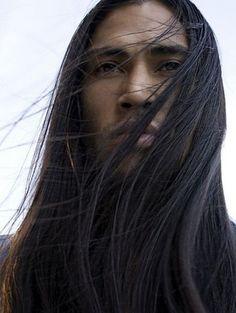 Apache Native American, Native American Models, Native American Images, Native American Beauty, American Women, Native American Hairstyles, Indian Hair Care, Long Hair Styles, Martin Sensmeier