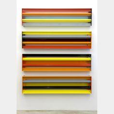 Liam Gillick Developmental, 2008 Painted aluminium, Plexiglas 4 elements, each: 11.8 x 47.3 x 3.2 inches 30 x 120 x 8 cm Installed dimensions: 58.5 x 47.25 inches / 148.6 x 120 cm