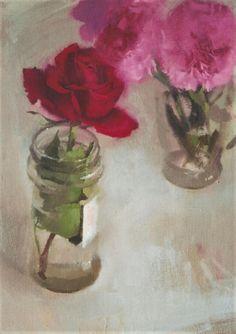 """""""Rosa"""". Óleo sobre lienzo. Salvador Caro."""