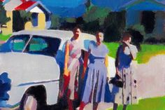 Nostalgic, Color-soaked Paintings by Simon Miller Painting Videos, Painting Lessons, Painting Styles, Realistic Drawings, Art Drawings, Realistic Eye, Pencil Drawings, Encaustic Art, Watercolor Paintings