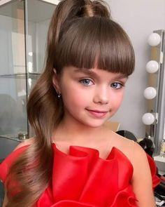 Beautiful Little Girls, The Most Beautiful Girl, Beautiful Children, Beautiful Models, Fall Wedding Hairstyles, Girl Hairstyles, Cute Baby Girl Images, Cute Girls, Anastasia Knyazeva
