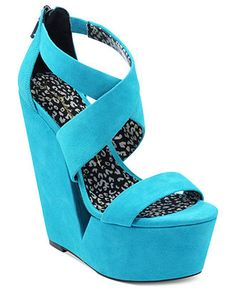 JESSICA SIMPSON #shoes #wedge #blue BUY NOW!