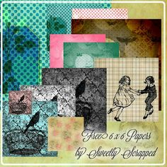 Free 6 x 6 Papers... Vintage, Shabby and Distressed