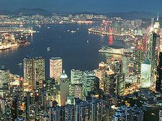 View of Hong Kong at night seen from the Peak: 10 out of 10 for Hong Kong